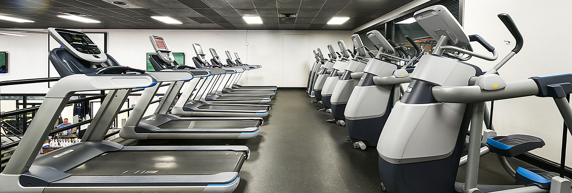 rows of treadmills and cardio equipment
