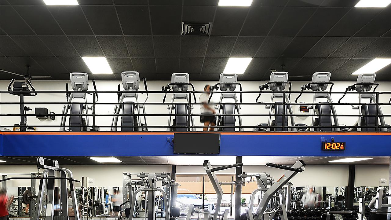 cardio floor in a modern gym in blawnox