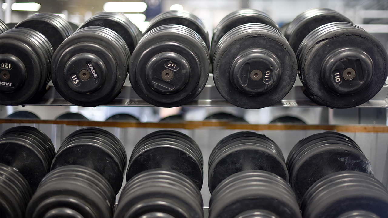 free weights in a gym in blawnox